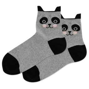 Socks, women's, panda, Fits Women's Shoe Size 4 - 10 1/2