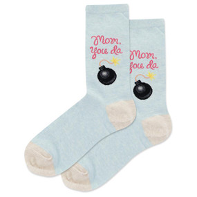 Socks, womens, mom, da bomb, Sizes 4 - 10 1/2