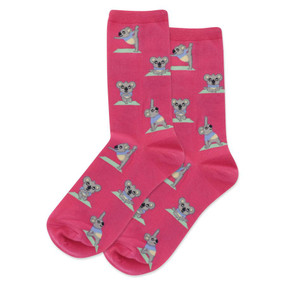 Socks, women's, koala bear,  Size 4 - 10 1/2