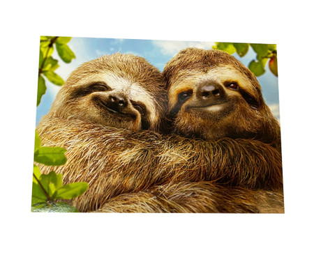 two sloths, valentine's day, love you slow much