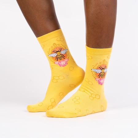 Socks, women's, queen bee, 58% Cotton, 39% Polyester, 3% Spandex, women's shoe size 5-10