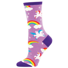Socks, women's pegasus, mythology, 63% Cotton, 34% Nylon, 3% Lycra Sock size 9-11, women's shoe size 6-10