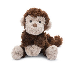 "squiggles, monkey, stuffed animal, 9"" H"