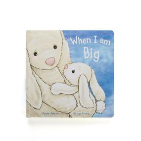 Book, bunny, When I am Big, running races, collecting bugs, front cover