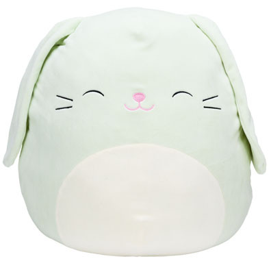"""Isabella Bunny, Squishmallow, plush toys, comfort, support,  couch companions, pillow pals, bedtime buddies, travel teammates buddy, children, Easter, 12"""""""