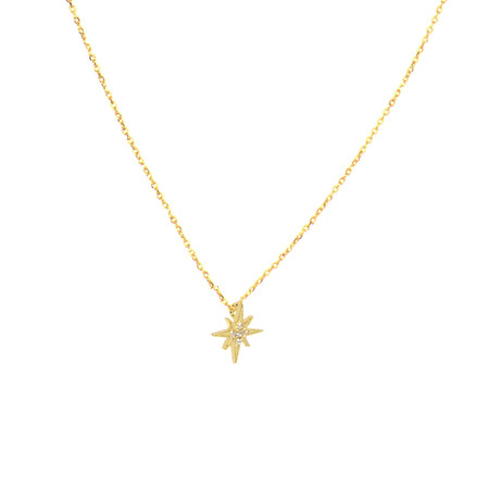 gold, necklace, star, harmony, 16″ chain plus 3″ extension