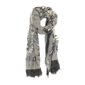 light grey, light, spring, scarf, 180 x 75cm