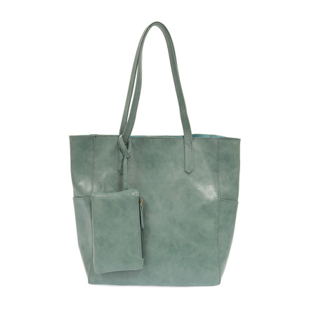 seafoam, tote, handbag, purse, 13″ (height) x 11″ (width from seam to seam) x 5.5″ (depth), coin purse, vegan leather
