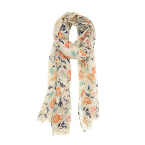 scarf, light, airy, garden, floral, 180 x 90cm