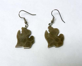 petoskey stone lower MI earrings