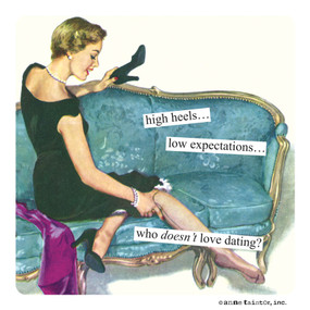 magnet, dating, low expectations, funny, high heels