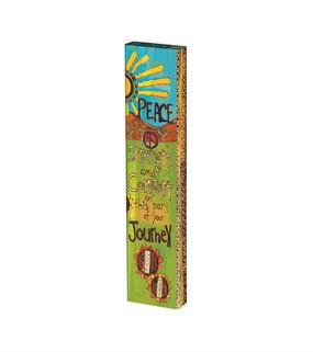 """peaceful journey 13"""" mini art pole"""