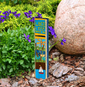 "at the lake 13"" mini art pole"