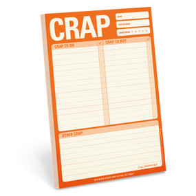 To do list, crap, funny, 6 x 9 inches, 60 sheets