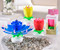 Magic Musical Candle, flower, yellow, pink, blue, red, plays Happy  Gift Box Included. Plastic. , 2.4x2.4x4.3(in)