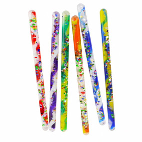 Wand, jumbo, spiral, costume accessory, swirling color, bright specks of glitter, 12""