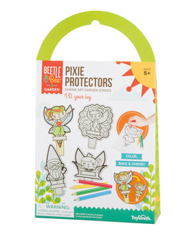 Pixie, garden stakes, color, bake, shrink, plastic sheets