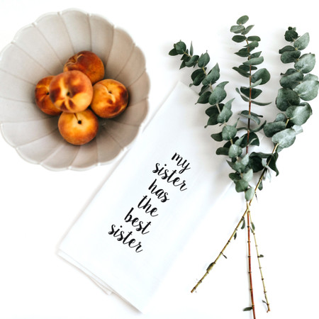Dish towel, sister, best, funny, cotton, kitchen