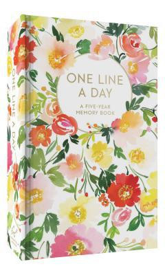 Journal, One Line a Day,  5 Year Memory Book, Floral,  watercolor artwork Page Count: 372 Dimensions: 6.2 x 3.8 x 1.2 inches