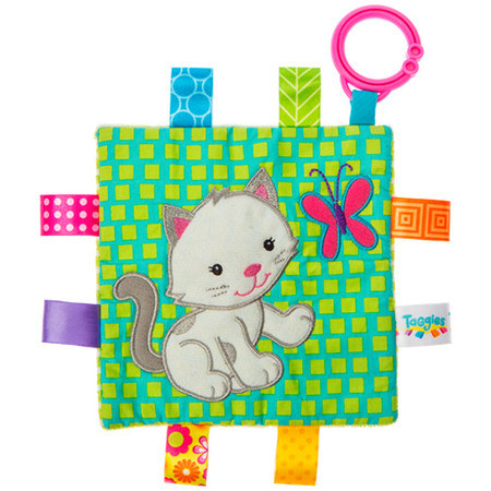 taggies, kitten, soother, activity toy,  6.5″ x 6.5″