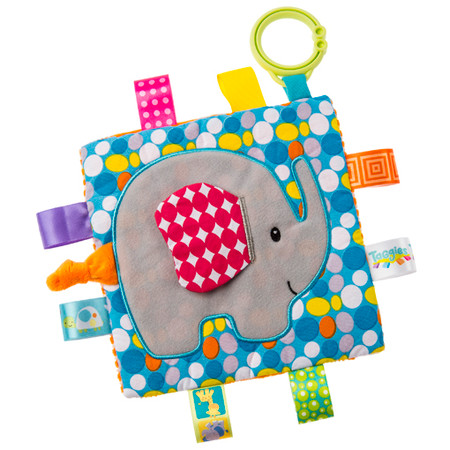 taggies, elephant, soother, activity toy,  6.5″ x 6.5″