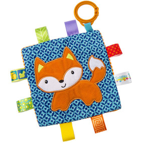 taggies, fox, soother, activity toy,  6.5″ x 6.5″
