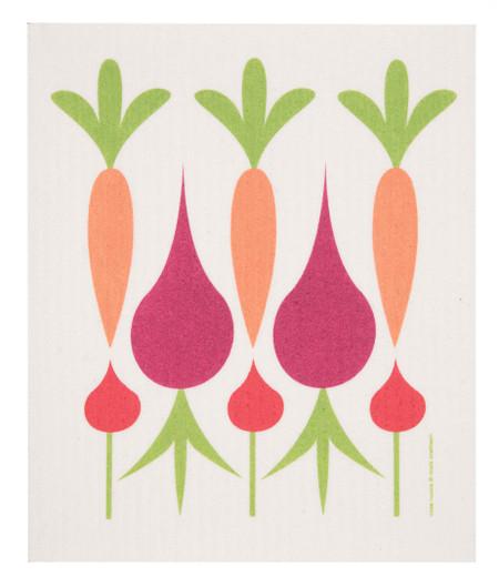 swedish dish towel, carrots, beets, absorbent, dishcloth