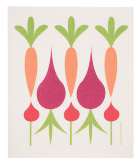 swedish dish towel, carrots, beets, absorbent, dishcloth
