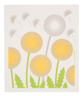 "Swedish dish towel, dandelion, absorbent, kitchen, 6.5"" x 8"""