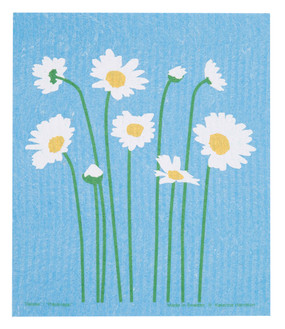 "Swedish dish towel, daisy, absorbent, kitchen, 6.5"" x 8"""