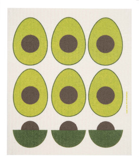"Swedish dish towel, avocado, absorbent, kitchen, 6.5"" x 8"""