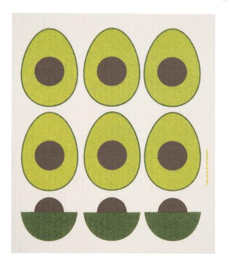 "Swedish dish towel, avocado, absorbent, kitchen, 6.5"" x 8"""