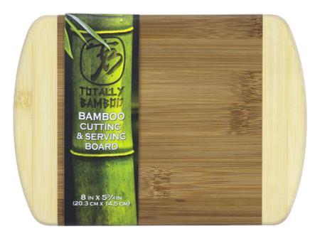 bamboo cutting board, two tone