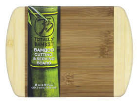 bamboo cutting board, two tone