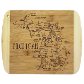 a slice of life michigan cutting board