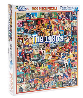 Puzzle, 1980's, '80, nostalgia, 1000 pieces, James Mellett, sports, celebrities, 12 x 10