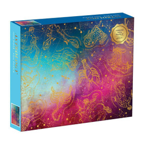 "1000 piece cosmo astrology puzzle,  20 x 27"", foil stamped"