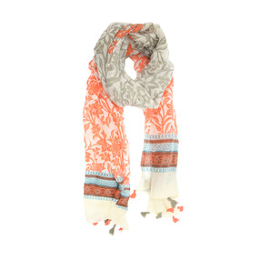boarder tassel scarf