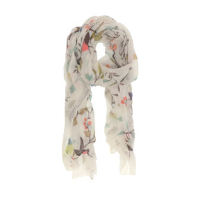 birds in a cherry tree scarf