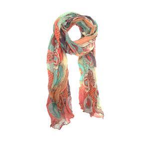 dots and daisy scarf - poppy