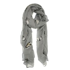 pretty kitty scarf - dark grey