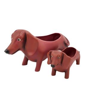baby oscar dachshund planter
