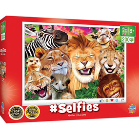 This Selfies puzzle of Safari Sillies is the perfect challenge for older kids.