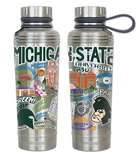 cat studio michigan state  water bottle