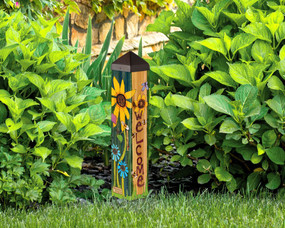 "welcome peace garden 20"" art pole"
