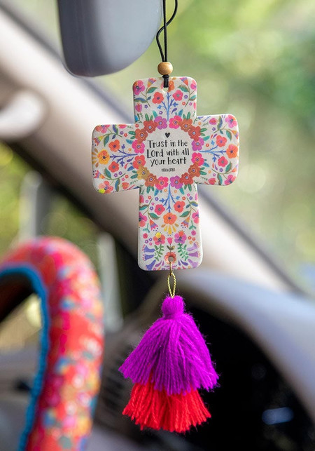 air freshner, trust in the lord, religious
