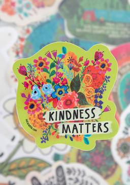 Vinyl sticker, kindness matters, 4in diameter