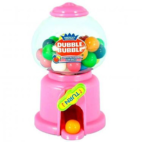 gum ball dispenser, Dubble Bubble, 1/2-inch gumballs, assorted colors