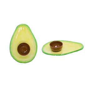"Avocado dip set, outdoor party Size:  13.58"" L x 9.84"" W x 2.56"" H"