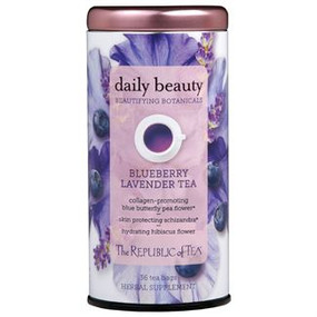 beautifying botanicals blueberry lavender tea, Tin - 36 tea bags